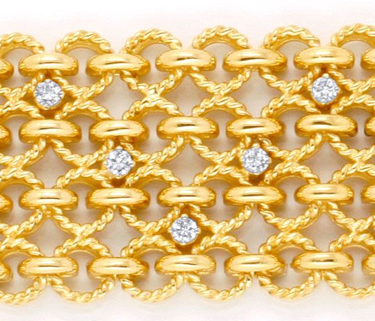 Foto 4, Handarbeits Brillantarmband 106G 18K Gold 1.8ct Schmuck, S4495