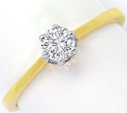Foto 1, Brillant-Ring 0,30 Carat River-D 18K Gelbgold Weissgold, S4512