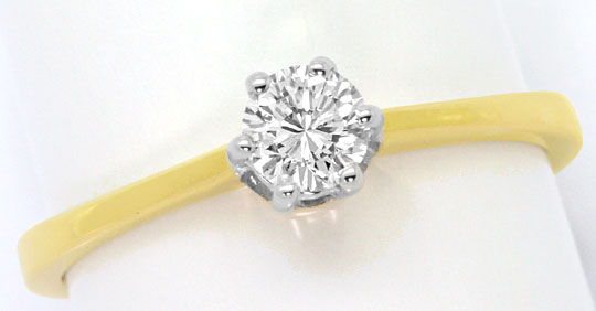 Foto 2 - Brillant Ring 0,30 Carat River D 18K Gelbgold Weissgold, S4512