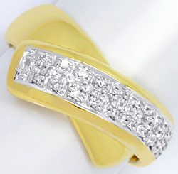Foto 1, Gold Ring 31 Stueck Diamanten 0,23ct, 14 Karat Gelbgold, S4538