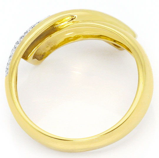 Foto 3, Gold Ring 31 Stueck Diamanten 0,23ct, 14 Karat Gelbgold, S4538