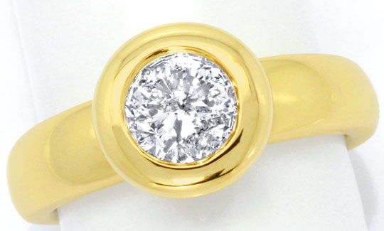 Foto 2 - Brillant Solitär Ring 1,06ct Top Wesselton 14K Gelbgold, S4620