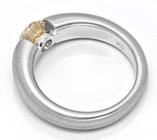 Foto 3 - Brillant Spannring 18K Weiss 1,04ct Fancy Colour Luxus!, S4631
