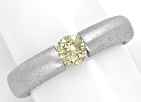 Foto 2, Brillant Spannring 18K, 0.49ct Fancy Light Lemon Luxus!, S4632