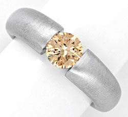 Foto 1, Diamant Spannring HRD 1.00ct Fancy Color 18K Luxus! Neu, S4633