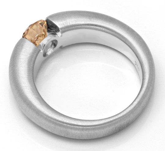 Foto 3, Diamant Spannring HRD 1.00ct Fancy Color 18K Luxus! Neu, S4633