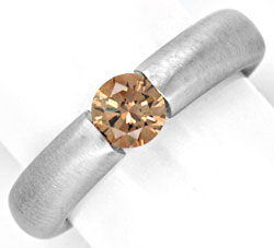 Original-Foto 1, DIAMANT-SPANNRING HRD 0,57ct FANCY INTENSE COLOR LUXUS!