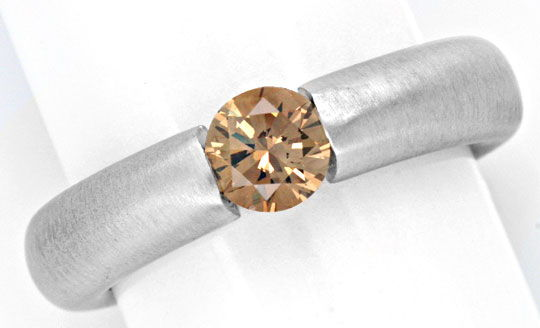 Foto 2 - Diamant Spannring HRD 0,57ct Fancy Intense Color Luxus!, S4634