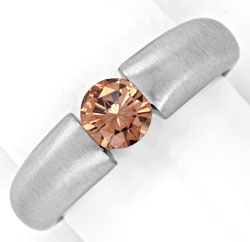 Foto 1, Brillantspannring HRD 0,55ct Fancy Intense Brown Luxus!, S4636