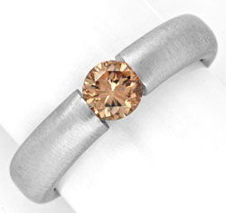 Foto 1, Diamant Spannring HRD 0,57 Fancy Yellowish Brown Luxus!, S4637