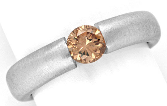 Foto 2, Diamant Spannring HRD 0,57 Fancy Yellowish Brown Luxus!, S4637