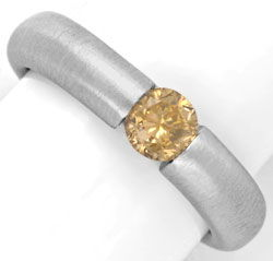 Foto 1 - Diamant Spannring HRD 0,56ct Fancy Goldbraun Luxus! Neu, S4638