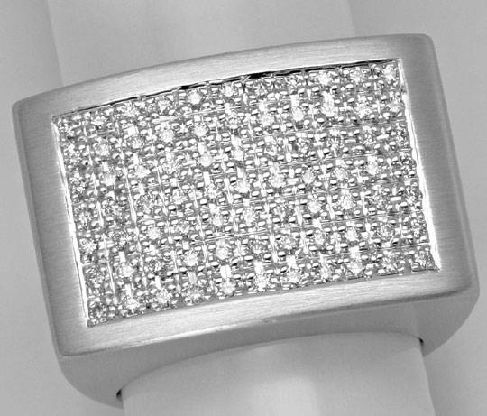 Foto 4, Sensationeller Diamantring 0,85ct Brillanten, Weissgold, S4645
