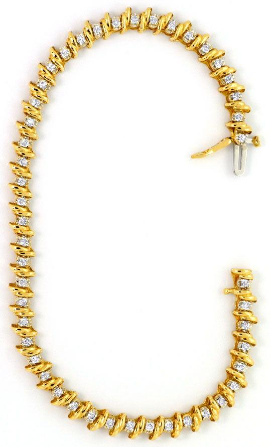 Phantasie Designer Gold Kette, 18K750 Gelb Gold Luxus
