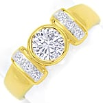 Toller Diamantring mit 0,99ct River Brillanten 18K Gold