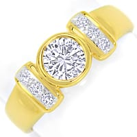 zum Artikel Toller Diamantring mit 0,99ct River Brillanten 18K Gold, S4758