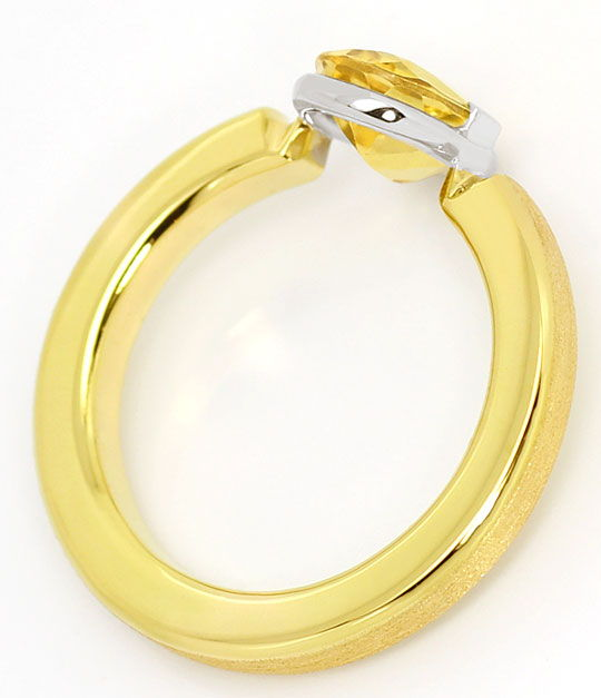 Foto 3, Design Ring mit 1,6ct Gold Beryll Heliodor Bicolor Gold, S4764