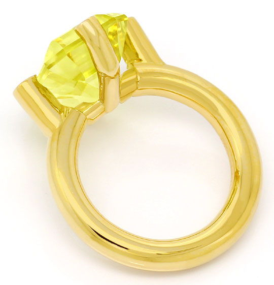 Foto 3 - Grosser 12,6ct Citrin in Designer Ring, massiv Gelbgold, S4768