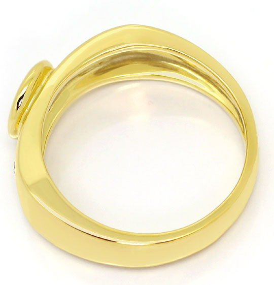 Foto 3, Brillant Gold Ring 0,50ct River Brillanten 14K Gelbgold, S4813