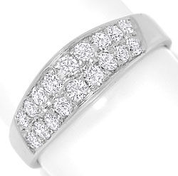 Foto 1 - Moderner Diamantbandring 0,88ct Diamanten 14K Weissgold, S4855