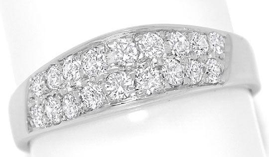 Foto 2 - Moderner Diamantbandring 0,88ct Diamanten 14K Weissgold, S4855