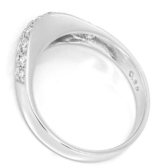 Foto 3 - Moderner Diamantbandring 0,88ct Diamanten 14K Weissgold, S4855