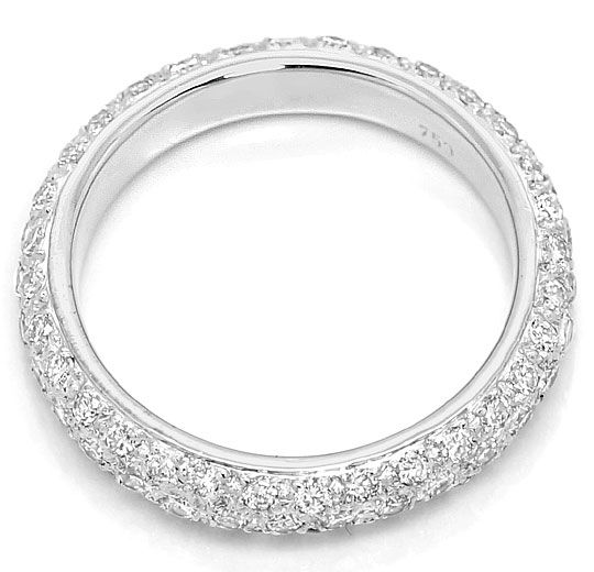Foto 3 - Brillant Vollmemory Ring 1,25ct Lupenrein 18K Weissgold, S4866