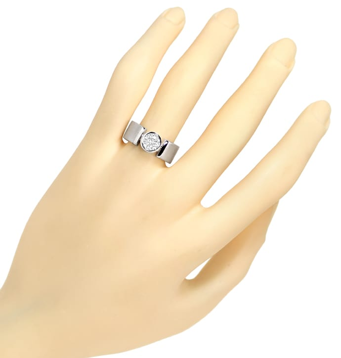 Foto 4 - Brillant Ring Solitär 1,01ct Lupenrein in 18K Weissgold, S4873
