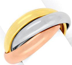Foto 1, Original Cartier Trinity Ring 18K Tricolor, Gr.47, Shop, S4914