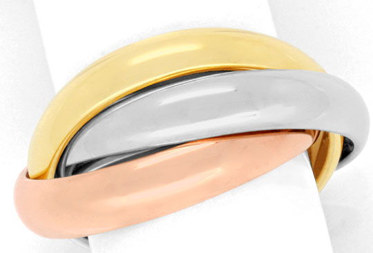 Foto 2, Original Cartier Trinity Ring 18K Tricolor, Gr.47, Shop, S4914
