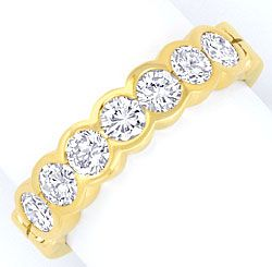 Foto 1 - Brillant Halbmemory Ring 1,14 Carat Diamanten Gelb Gold, S5017