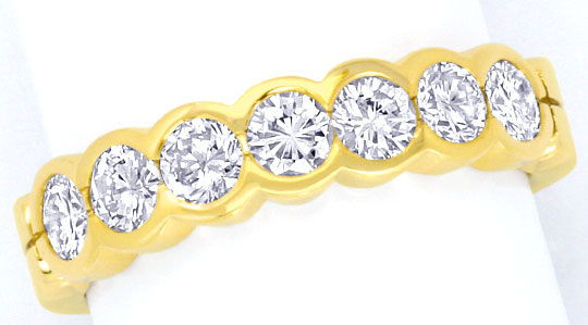 Foto 2 - Brillant Halbmemory Ring 1,14 Carat Diamanten Gelb Gold, S5017