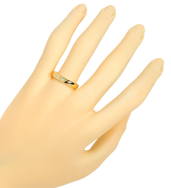 Foto 4, Niessing Diamantring mit 0,015ct Brillant, 18K Gelbgold, S5114