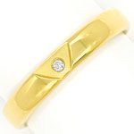 Niessing Diamantring mit 0,015ct Brillant, 18K Gelbgold