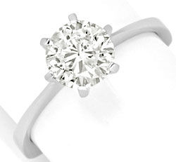 Foto 1, Brillant Diamant Krappen Ring 1,37 Carat 585 Weiss Gold, S5391