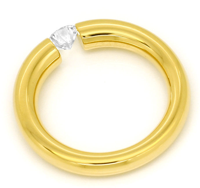 Foto 3, Niessing Spannring Supla 0,28ct lupenrein River in Gold, S5726