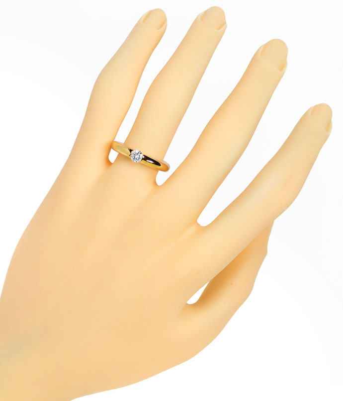 Foto 4, Niessing Spannring Supla 0,28ct lupenrein River in Gold, S5726