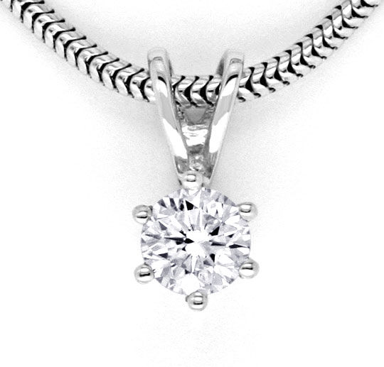 Foto 2 - Krappen Brillant Collier Diamantkollier 0,3ct Weissgold, S5867
