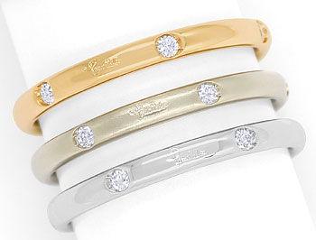 Diamantringe rosegold  Pomellato LUCCIOLE 3 Diamantringe Rosegold und Weißgold, S5899