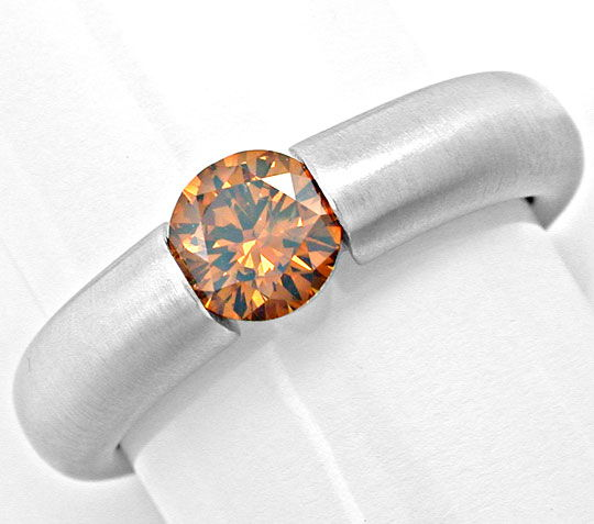 Foto 2, Spannring 0,66 Traum Orange! IGI 18K Massiv Luxus! Neu!, S6000