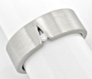 Foto 1, Original Niessing Ring, Brillant Grau Weissgold Neu 18K, S6005
