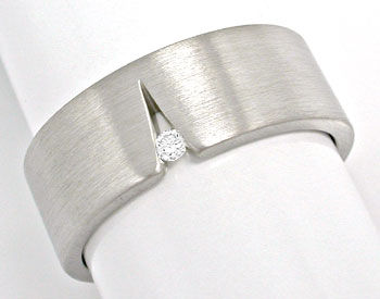 Foto 1, Original Niessing Brillant-Ring Grau-Weissgold Shop Neu, S6006
