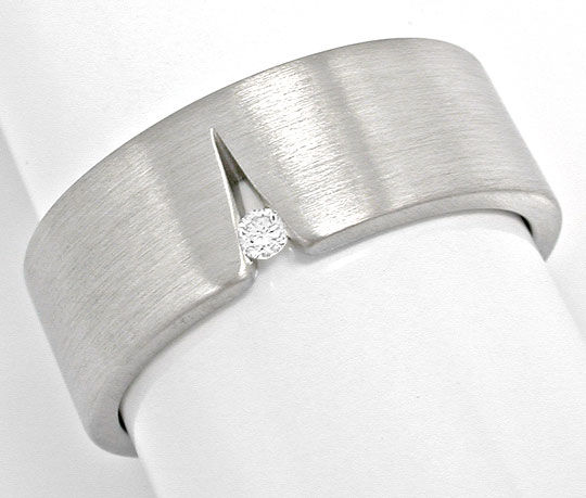 Foto 2, Original Niessing Brillant-Ring Grau-Weissgold Shop Neu, S6006