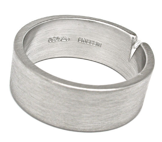 Foto 3, Original Niessing Brillant-Ring Grau-Weissgold Shop Neu, S6006