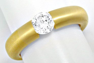 Foto 1 - Brillant Spann Ring River 18K Gelbg. massiv Luxus! Neu!, S6007