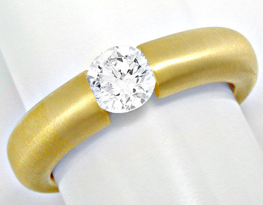 Foto 2 - Brillant Spann Ring River 18K Gelbg. massiv Luxus! Neu!, S6007
