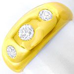 Eleganter Gelbgold Bandring mit 0,5ct Brillanten in 18K