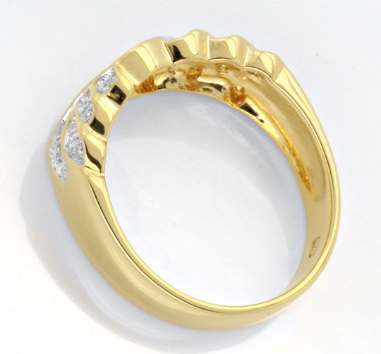 Foto 3 - Brillant Band Ring 18Karat Gelbgold Bicolor Luxus! Neu!, S6022