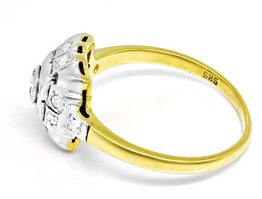 Foto 3, Original antiker Diamantring 14K/585 Top Erhaltung Shop, S6036