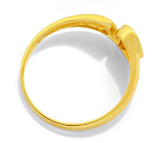 Foto 3, Diamant-Designer-Ring Gelbgold 0,07ct Brillant Shop Neu, S6069